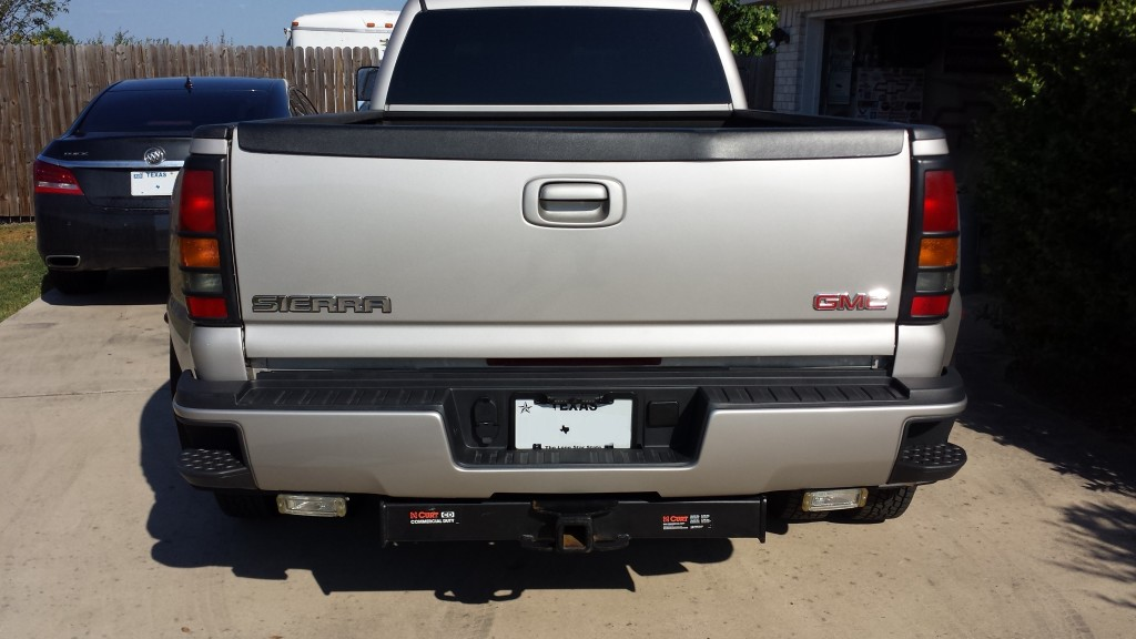 2015 GMC Sierra 2500 rear step bumper.